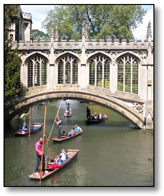 Punting on the Cam - University of Cambridge - England