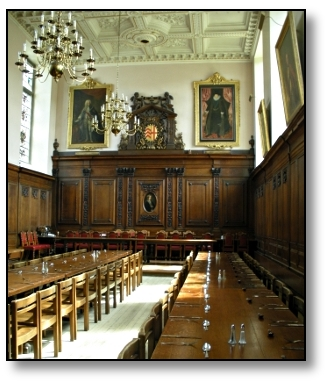 Dinning Hall - Cambridge University - Travel England