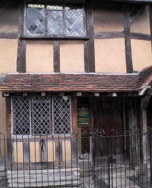 Shakespeare's birthplace on Henley Street